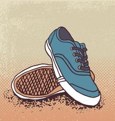 Pair of sneakers vector