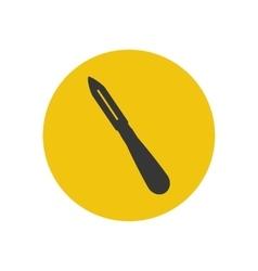 Potato peeler silhouette vector
