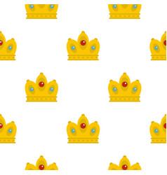 Queen crown pattern flat vector