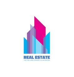 real estate logo template concept vector image
