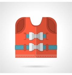 Red life-jacket flat icon vector