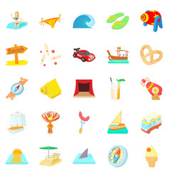 risk icons set cartoon style vector image