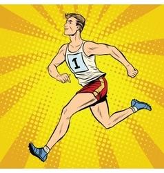 Runner male runner summer games athletics vector