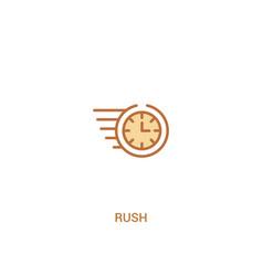 Rush concept 2 colored icon simple line element vector