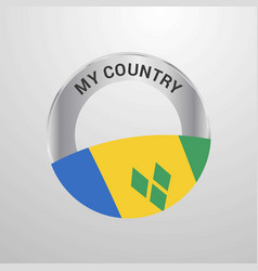 Saint vincent and grenadines my country flag badge vector