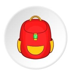 School backpack icon cartoon style vector