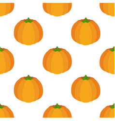 seamless pattern of orange pumpkin vector image
