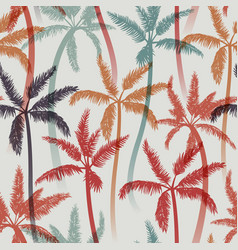 seamless summer pattern with palms vector image