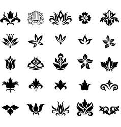 Set floral design elements useful for various vector