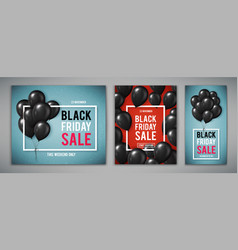 set of banners for black friday sale with vector image