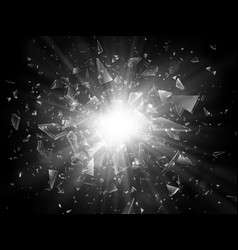 shards of broken glass abstract explosion vector image