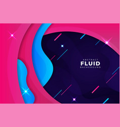 simple abstract dynamic overlapped layers pink vector image