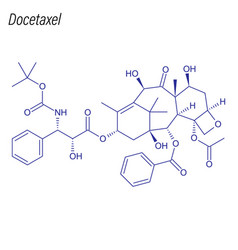 skeletal formula docetaxel drug chemical vector image