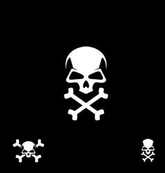skull crossbone symbol vector image
