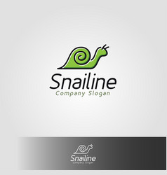 snail line is an animal logo with line art style vector image