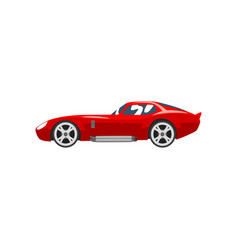 Sports racing car red supercar side view vector