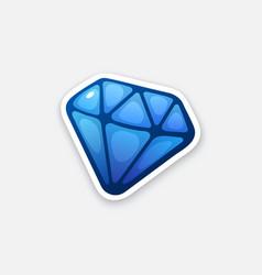 Sticker blue diamond vector