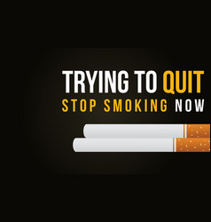 Stop smoking no tobacco day banner collection vector
