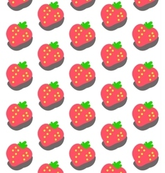 Sweet Strawberry Pattern vector image