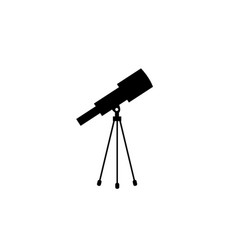 telescope icon solid vector image