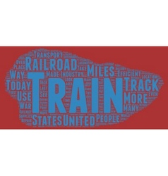 The history trains text background wordcloud vector