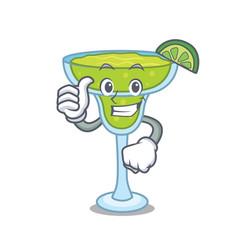 thumbs up margarita character cartoon style vector image