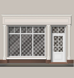Traditional shop facade vector