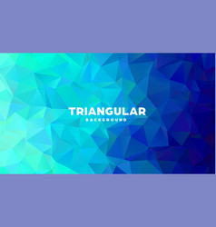 Triangle polygonal abstract geometric background vector