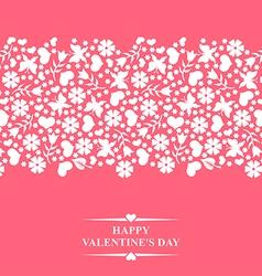 valentine floral vector image