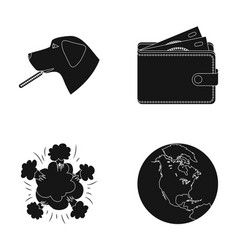 Veterinary war and or web icon in black style vector