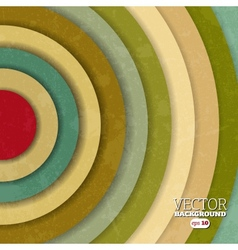 Vintage background with colorful circles vector image