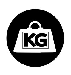 Weight kilogram icon design vector