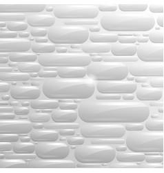 White background glass capsule vector