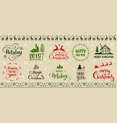 winter holidays design vector image