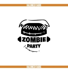 Zombie Party Badge vector