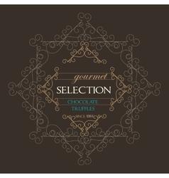 Chocolate Retro Design wit florish border vector image