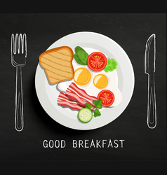 good breakfast lettering vector image