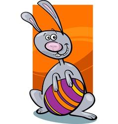 funny easter bunny cartoon vector image vector image