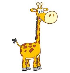 Giraffe Cartoon Mascot Character vector image