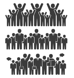 Group of business people in a standing position vector