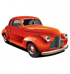 old-fashioned hot rod vector image