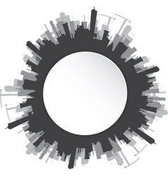 Round urban landscape vector image