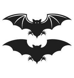 Silhouette of bat vector