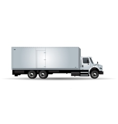 truck isolated on white background vector image