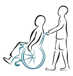 Carrying the patient vector image vector image