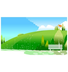 country side vector image