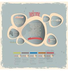 Creative web design bubbles in vintage style vector image vector image