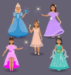 fairy set on grey vector image