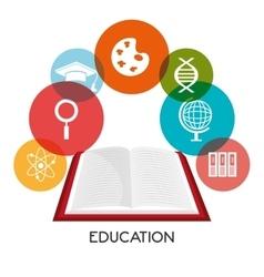 Graduate education design vector image