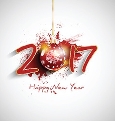 grunge happy new year bauble background 1510 vector image vector image